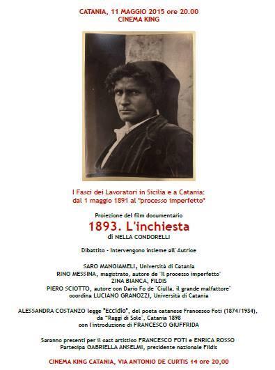 locandina FILDIS 1893 l'inchiesta